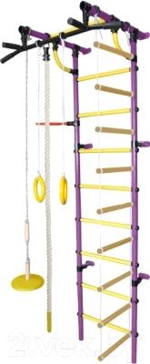 Детский спортивный комплекс Формула здоровья Гамма-3К Плюс (фиолетовый/желтый)