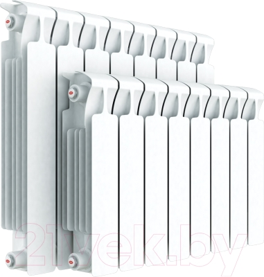 Радиатор биметаллический Rifar Monolit 350 (5 секций) - реальный вид товара может отличаться от представленного