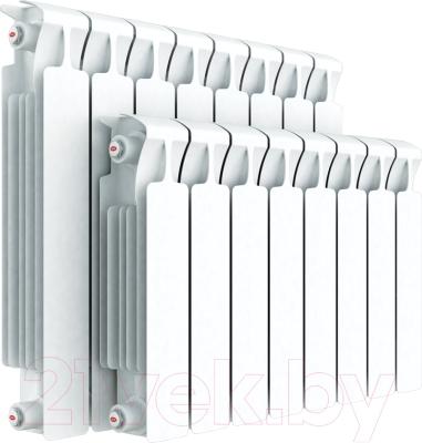 Радиатор биметаллический Rifar Monolit 350 (6 секций) - реальный вид товара может отличаться от представленного