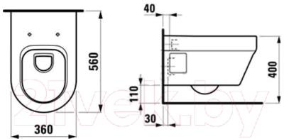 Унитаз подвесной Laufen Form 206710000001