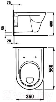 Унитаз подвесной Laufen Pro 8209510000001