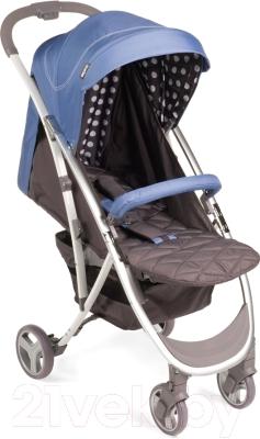 Детская прогулочная коляска Happy Baby Eleganza (синий)