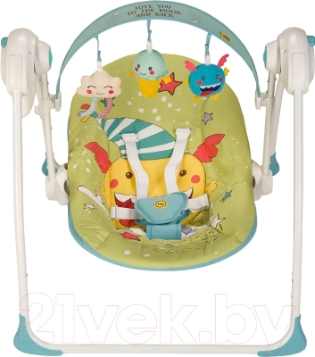 Качели для новорожденных Happy Baby Jolly (зеленый)