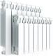 Радиатор биметаллический Rifar Monolit 350 (9 секций) -