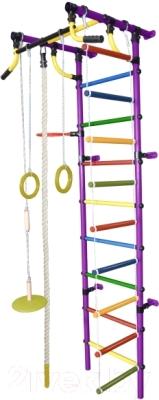Детский спортивный комплекс Формула здоровья Гамма-2К Плюс (фиолетовый/радуга)