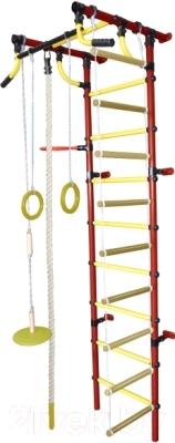 Детский спортивный комплекс Формула здоровья Гамма-2К Плюс (красный/желтый)