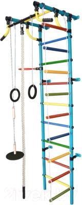 Детский спортивный комплекс Формула здоровья Гамма-2К Плюс (голубой/радуга)