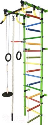 Детский спортивный комплекс Формула здоровья Гамма-2К Плюс (салатовый/радуга)