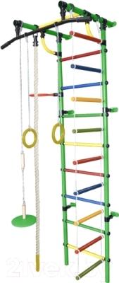 Детский спортивный комплекс Формула здоровья Гамма-1К Плюс (зеленый/радуга)