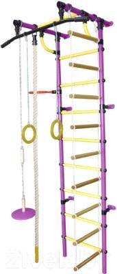 Детский спортивный комплекс Формула здоровья Гамма-1К Плюс (фиолетовый/желтый)