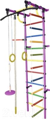 Детский спортивный комплекс Формула здоровья Гамма-1К Плюс (фиолетовый/радуга)