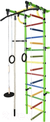 Детский спортивный комплекс Формула здоровья Гамма-1К Плюс (салатовый/радуга)