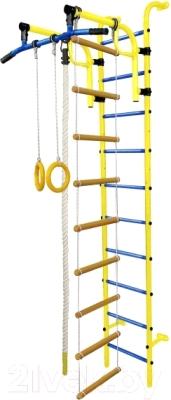 Детский спортивный комплекс Формула здоровья Аистенок-1А Плюс (желтый/синий)
