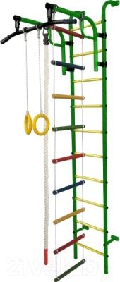 Детский спортивный комплекс Формула здоровья Аистенок-1А Плюс (зеленый/желтый)