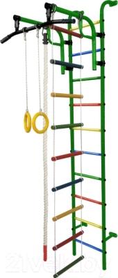 Детский спортивный комплекс Формула здоровья Аистенок-1А Плюс (зеленый/радуга)