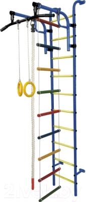 Детский спортивный комплекс Формула здоровья Аистенок-1А Плюс (синий/желтый)