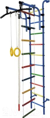 Детский спортивный комплекс Формула здоровья Аистенок-1А Плюс (синий/радуга)