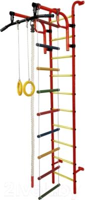 Детский спортивный комплекс Формула здоровья Аистенок-1А Плюс (красный/желтый)