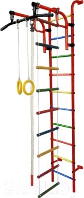 Детский спортивный комплекс Формула здоровья Аистенок-1А Плюс (красный/радуга)
