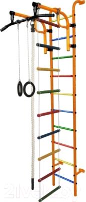 Детский спортивный комплекс Формула здоровья Аистенок-1А Плюс (оранжевый/радуга)