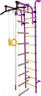 Детский спортивный комплекс Формула здоровья Аистенок-1А Плюс (фиолетовый/желтый)