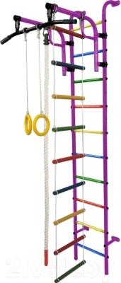 Детский спортивный комплекс Формула здоровья Аистенок-1А Плюс (фиолетовый/радуга)