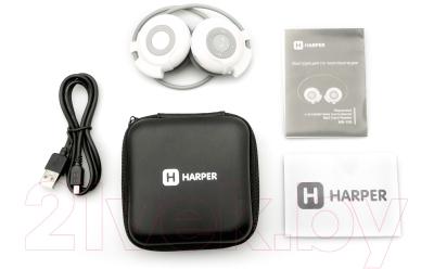 Наушники-гарнитура Harper HB-100 (белый/серый)