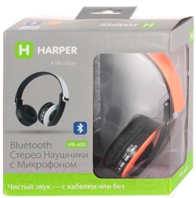 Наушники-гарнитура Harper HB-400 (оранжевый)