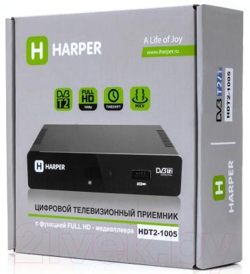 Тюнер цифрового телевидения Harper HDT2-1005