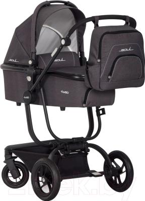 Детская универсальная коляска EasyGo Soul 2 в 1 (антрацит)