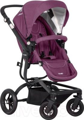 Детская универсальная коляска EasyGo Soul 2 в 1 (фиолетовый)