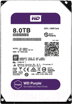 Жесткий диск Western Digital Purple 8TB (WD80PUZX)