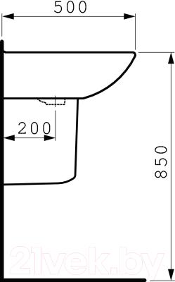 Умывальник Laufen Pro 8109530001041