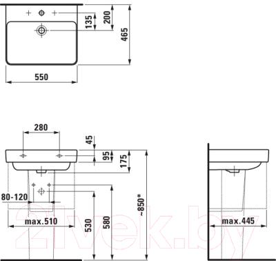 Умывальник Laufen Pro S 8109620001041