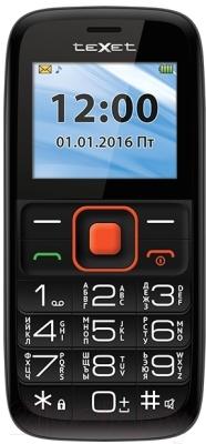 Мобильный телефон TeXet TM-B117 (черный/оранжевый)