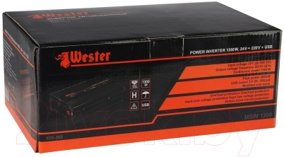 Автомобильный инвертор Wester MSW1300