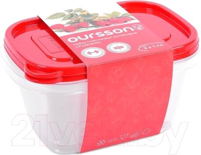 Набор контейнеров Oursson CP2283S/RD