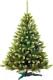 Ель новогодняя искусственная GreenTerra Канадская с зелеными кончиками (1.5м) -