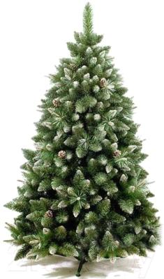 Сосна новогодняя искусственная GreenTerra Сибирская с шишками серебро (1.8м)