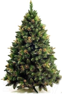 Сосна искусственная GreenTerra Сибирская с шишками золото (2.5м)