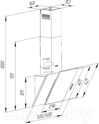 Вытяжка декоративная Pyramida KZ 50 IV