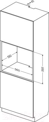 Электрический духовой шкаф Hansa BOEI69424