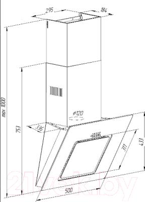 Вытяжка декоративная Pyramida NR-F 60 M BL