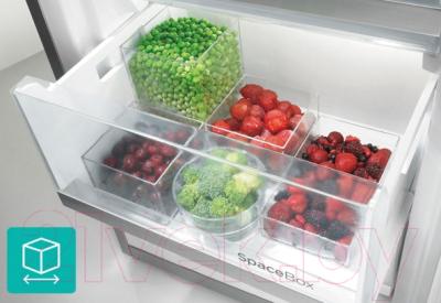 Холодильник с морозильником Gorenje NRK6192MBK