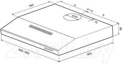 Вытяжка плоская Shindo Emi 60 W (00019878)