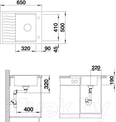 Мойка кухонная Blanco Elon 45 S (520990)