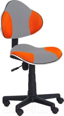Кресло детское Halmar Flash 2 (серый/оранжевый)