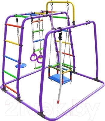 Детский спортивный комплекс Формула здоровья Игрунок-Т Плюс (фиолетовый/радуга)