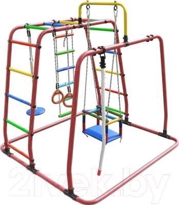 Детский спортивный комплекс Формула здоровья Игрунок-Т Плюс (красный/радуга)