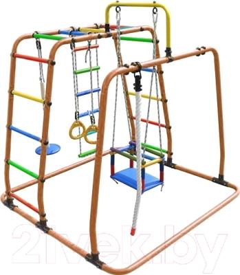 Детский спортивный комплекс Формула здоровья Игрунок-Т Плюс (оранжевый/радуга)